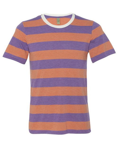 Alternative 1935ej Mens Eco-Jersey Ugly Stripe T-Shirt