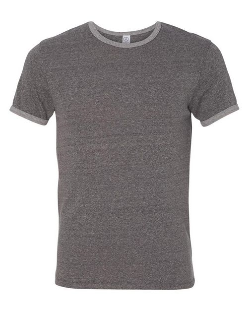 Alternative 1957 Mens Eco Mock Twist Ringer Crew T-Shirt