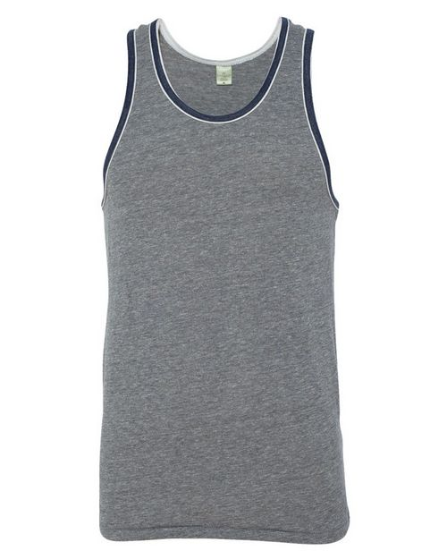 Alternative 22060 Mens Eco-Jersey Double Ringer Tank