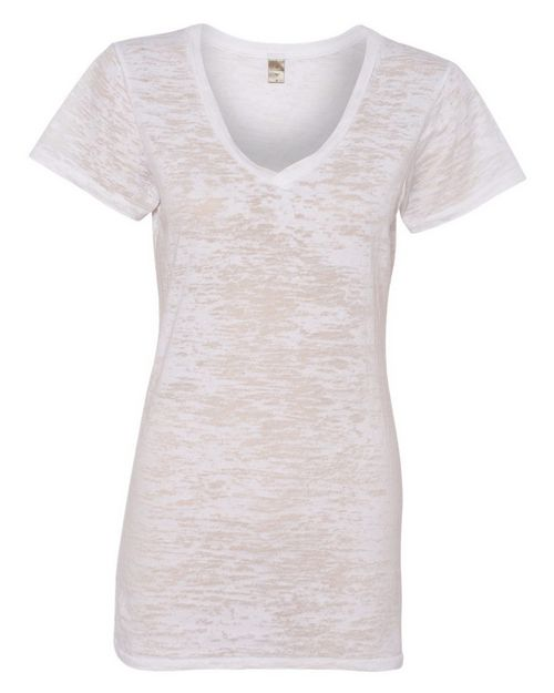 Alternative 2662 Womens Diane Burnout V-Neck T-Shirt