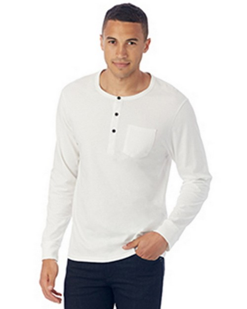 Alternative 2880P1 Mens Organic Pima Cotton Classic Henley