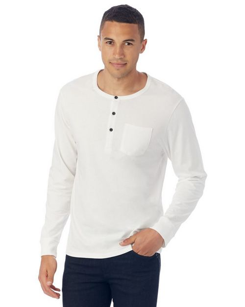 Alternative 2880 Mens Classic Organic Pima Cotton Henley Shirt