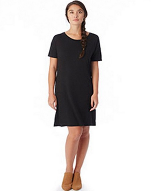 Logo Embroidered Alternative 2902MR Ladies Straight Up T-Shirt Dress