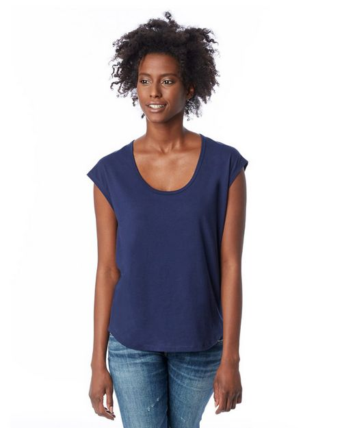 Alternative 2906 Womens Melrose Organic Pima Cotton Scoop T-Shirt