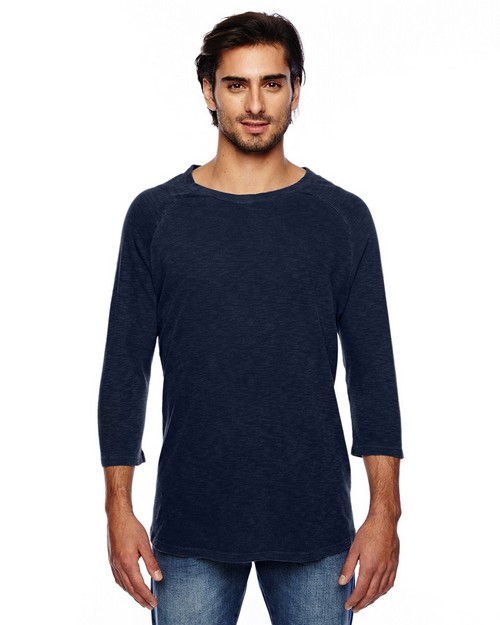 Alternative 32410J1 Mens Washed Slub Baseball T-Shirt