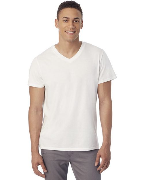Alternative 4532 Mens Perfect Organic Pima V-Neck T-Shirt