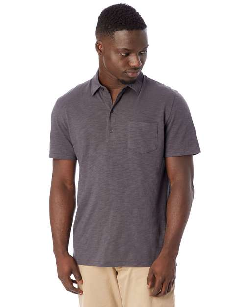 Alternative 4851JP Fairway Washed Slub Polo Shirt