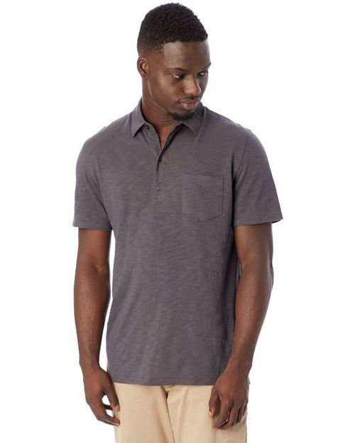 Alternative 4851 Fairway Washed Slub Polo Shirt