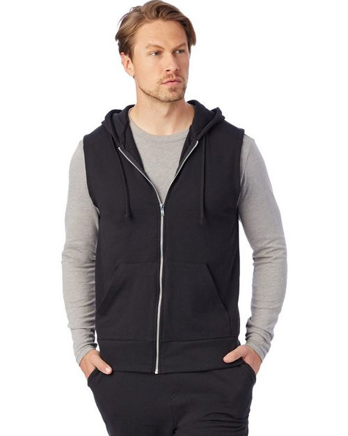 Alternative 5069 Mens Warm Up Vintage Sport French Terry Hoodie