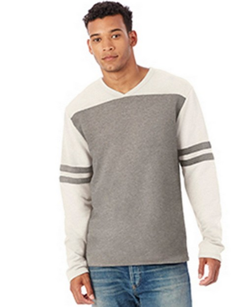 Alternative 5077BT Mens French Terry Trainer L/S Pullover