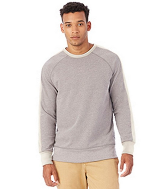 Alternative 5079BT Mens French Terry University Pullover