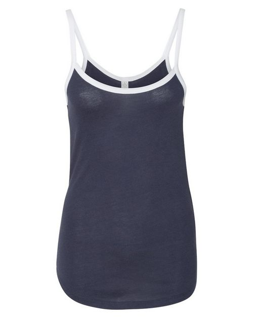 Alternative 5094 Womens Vintage 50/50 Ringer Cami Tank