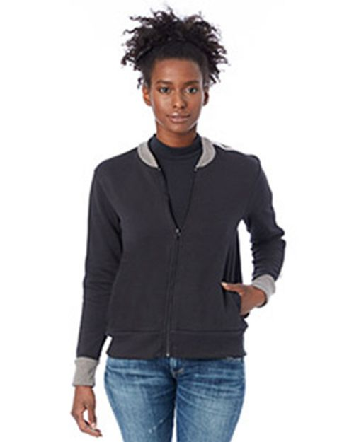 Alternative 5112BT Ladies Squad Vintage French Terry Bomber Jacket