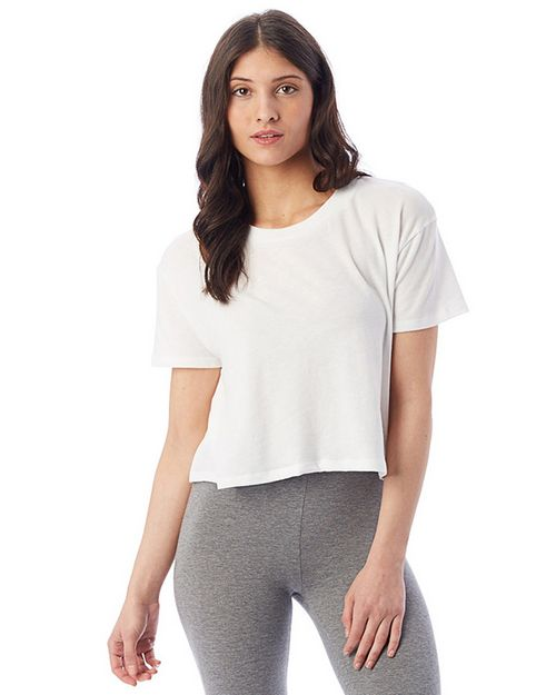 Alternative 5114BP Women Headliner Cropped T-Shirt