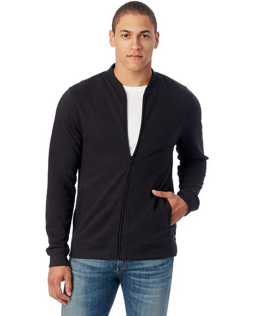 Alternative 5121 Mens Bomber Vintage French Terry Bomber Jacket