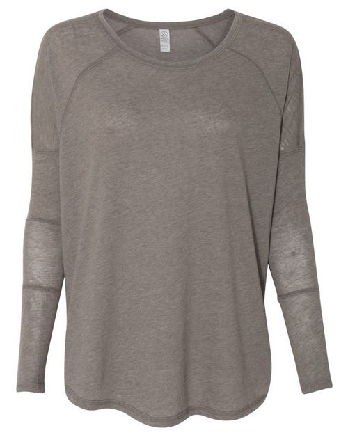 Alternative 6024 Womens Gauze Ramble Long Sleeve Raglan Tunic