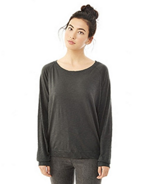 Alternative 61061J Ladies Wash Slub Slouchy Pullover