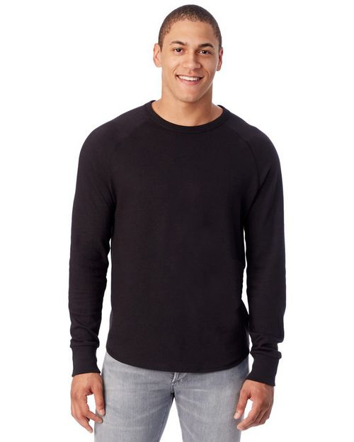 Alternative 7597 Mens Kickback Vintage Heavy Knit Crewneck Sweatshirt