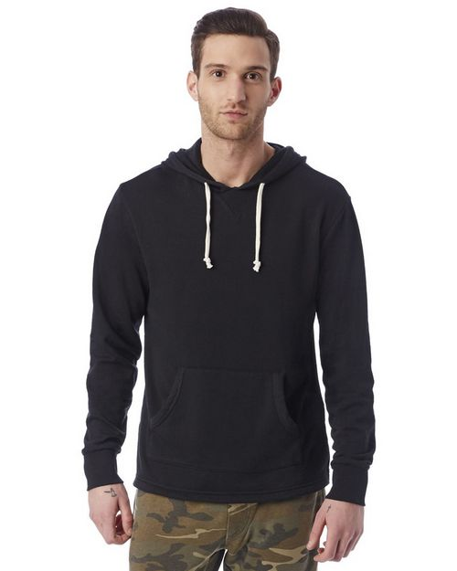 Alternative 8629 Mens School Yard Burnout French Terry Hoodie