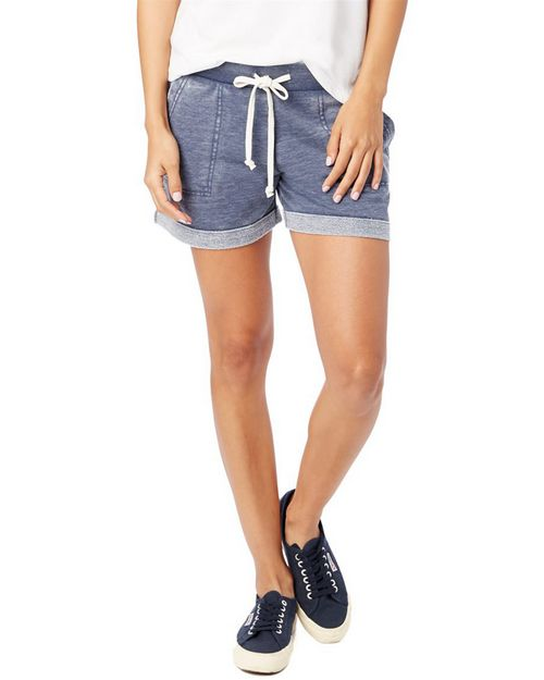 Alternative 8630 Women's Lounge Burnout French Terry Shorts