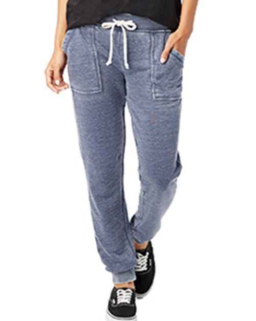 Alternative 8632F Ladies Long Weekend Burnout French Terry Pants