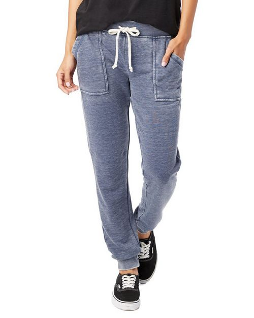 Alternative 8632 Womens Long Weekend Burnout French Terry Pants