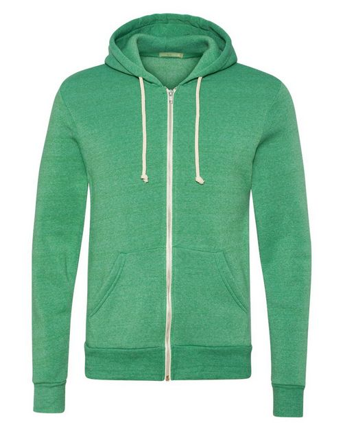 Alternative 9590 Mens Eco-Fleece Rocky Hooded Full-Zip Sweatshirt