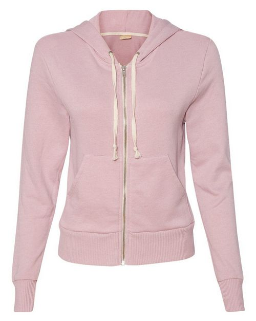 Alternative 9821 Womens French Terry Hooded Full-Zip