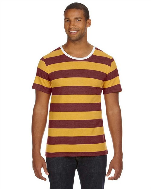 Alternative AA1935J Fashion Now Mens Ugly Stripe Crew T-Shirt