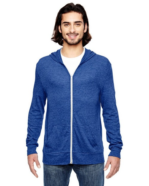 Alternative AA1970 Unisex Eco Long-Sleeve Full-Zip Hoodie