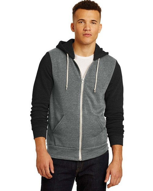 Alternative AA32023 Colorblock Rocky Eco-Fleece Zip Hoodie