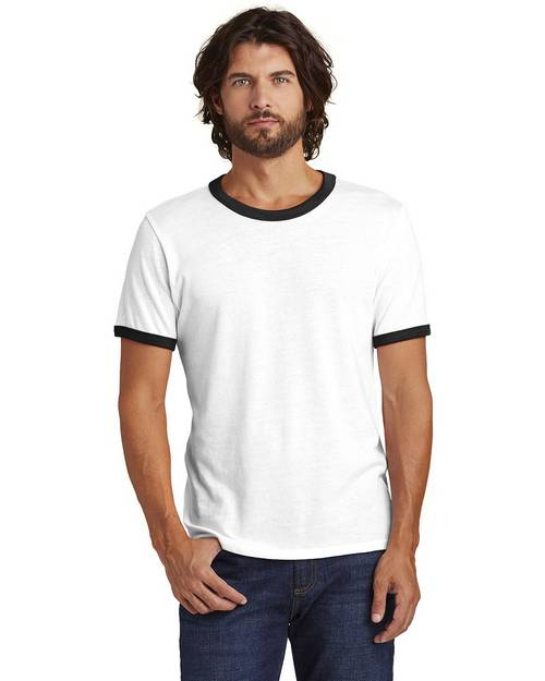 Logo Embroidered Alternative AA5103 Mens The Keeper Vintage Ringer T-Shirt