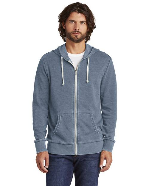 Alternative AA8636 Mens Burnout Laid-Back Zip Hoodie