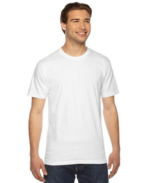 American Apparel Logo Embroidered Fine Jersey T-Shirt - Unisex