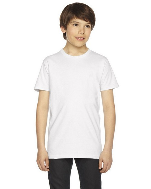 American Apparel Logo Embroidered Fine Jersey T-Shirt - For Youth