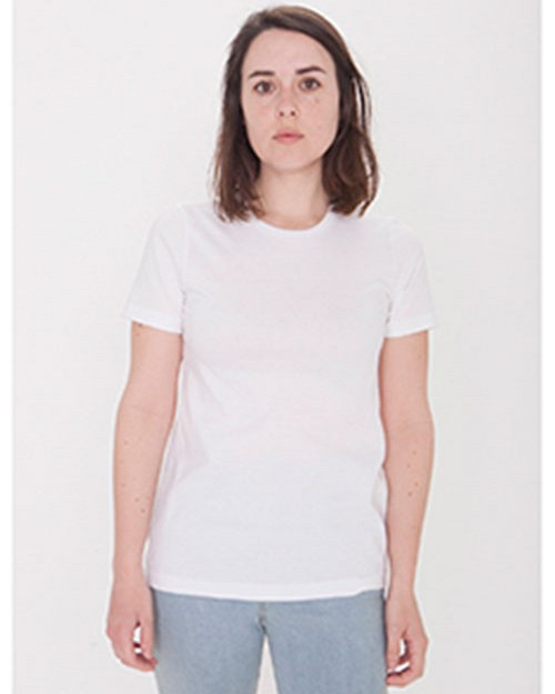 American Apparel Logo Embroidered Organic Jersey Classic T-Shirt - For Women