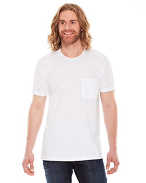 American Apparel Logo Embroidered Fine Jersey Pocket T-Shirt - Unisex
