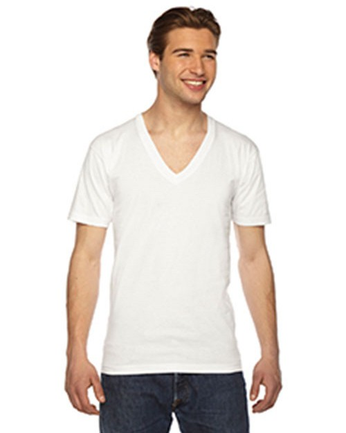 American Apparel Logo Embroidered V-Neck T-Shirt - Unisex