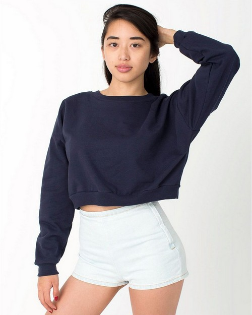 American Apparel 5336 California Fleece Cropped Sweatshirt