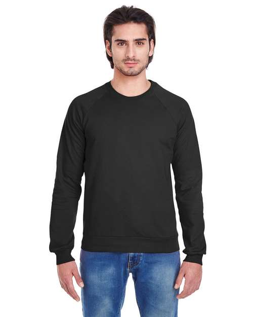 American Apparel 5454W Unisex California Fleece Raglan T-Shirt