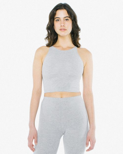 American Apparel 8369W Ladies Cotton Spandex Sleeveless Crop Top