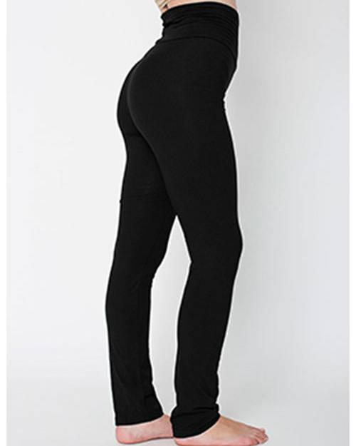 American Apparel 8375W Ladies Cotton/Spandex Yoga Pant