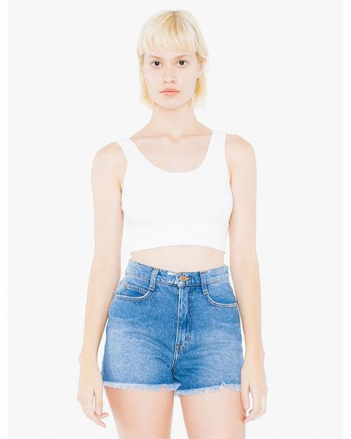 American Apparel 8384W Ladies Cotton Spandex Crop Tank
