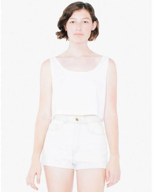 American Apparel ABB381W Ladies Poly-Cotton Loose Crop Tank Top