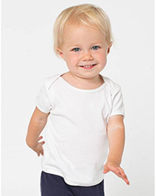 American Apparel AM4000W Infant Baby Rib Short-Sleeve Lap T-Shirt