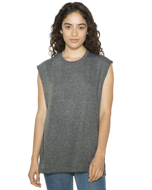 American Apparel ATR465W Unisex Tri-Blend Muscle Hooded T-Shirt