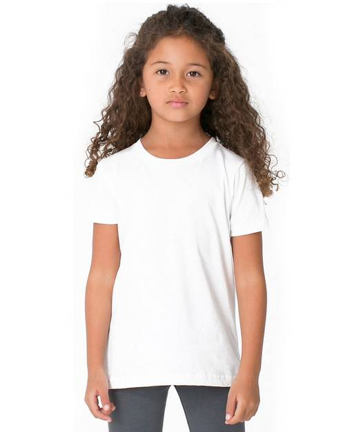 American Apparel BB101W Toddler Poly Cotton Crewneck T-Shirt