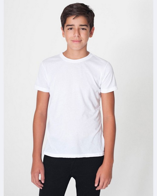 American Apparel BB201 Youth 50/50 Poly-Cotton Short Sleeve Tee