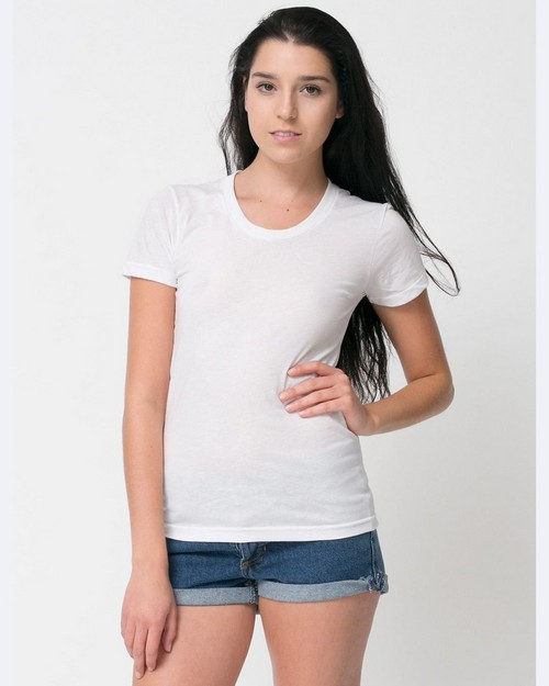 American Apparel BB301 Ladies Poly-Cotton Short-Sleeve Crewneck