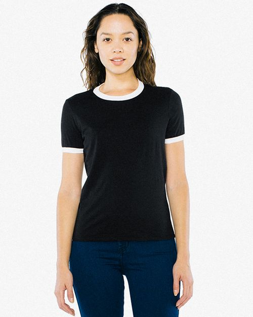 American Apparel BB310W Ladies Poly-Cotton Ringer T-Shirt